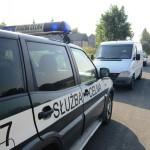 Kontrola samochodu w miejscowości Ropienka na Podkarpaciu.